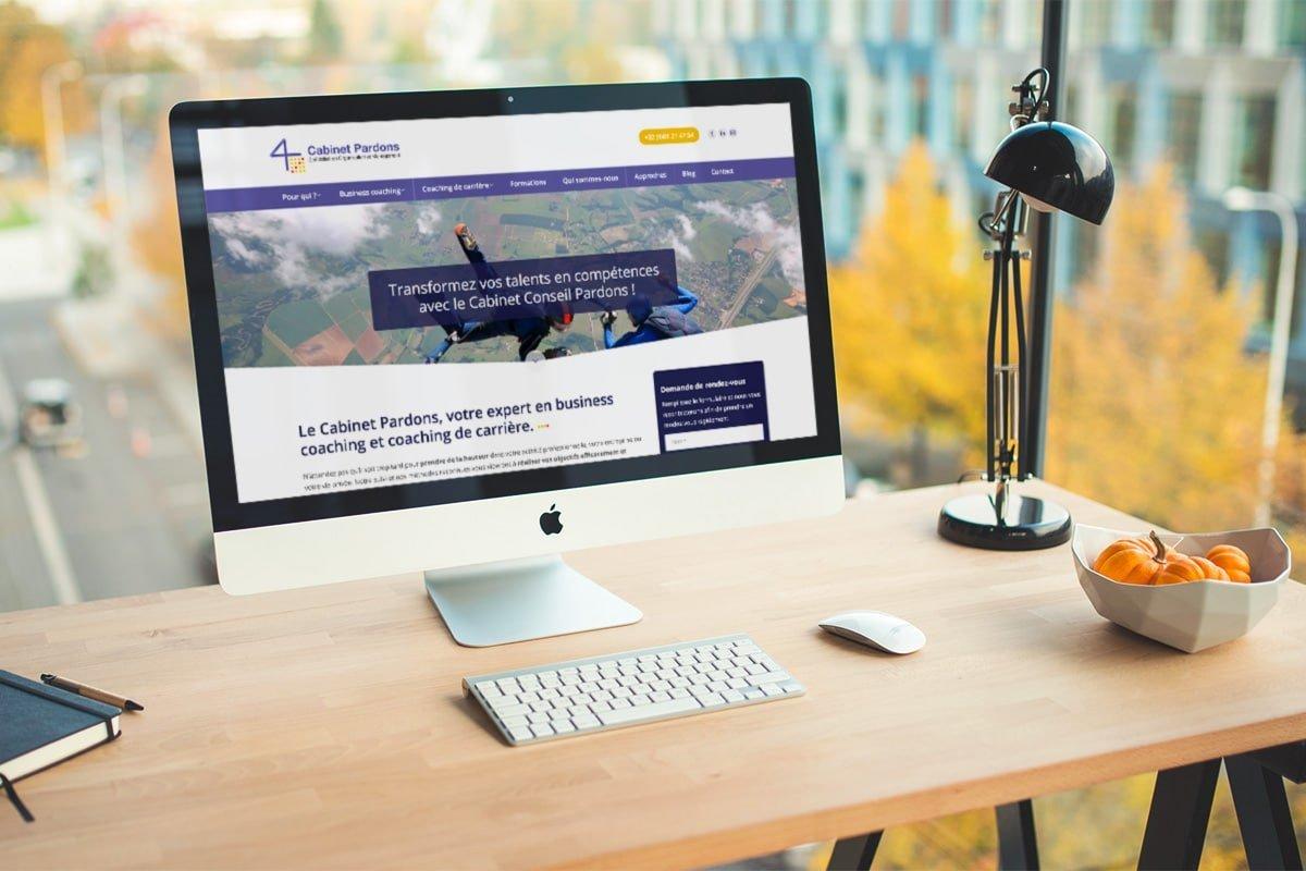 Création du site internet vitrine du Cabinet Pardons par l'agence web Poush