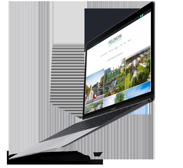 Site internet de Fieldwork, client de l'agence webmarketing Poush