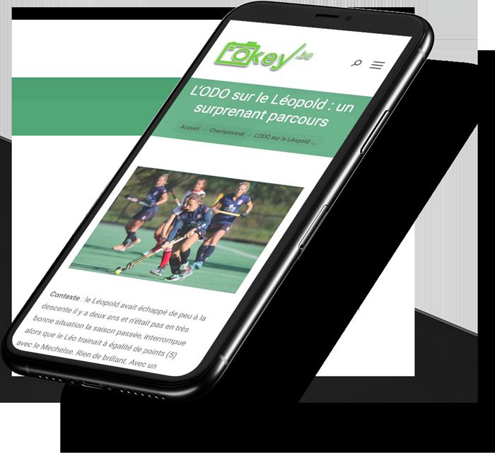 Site web mobile de Okey.be créé par l'agence digitale Poush