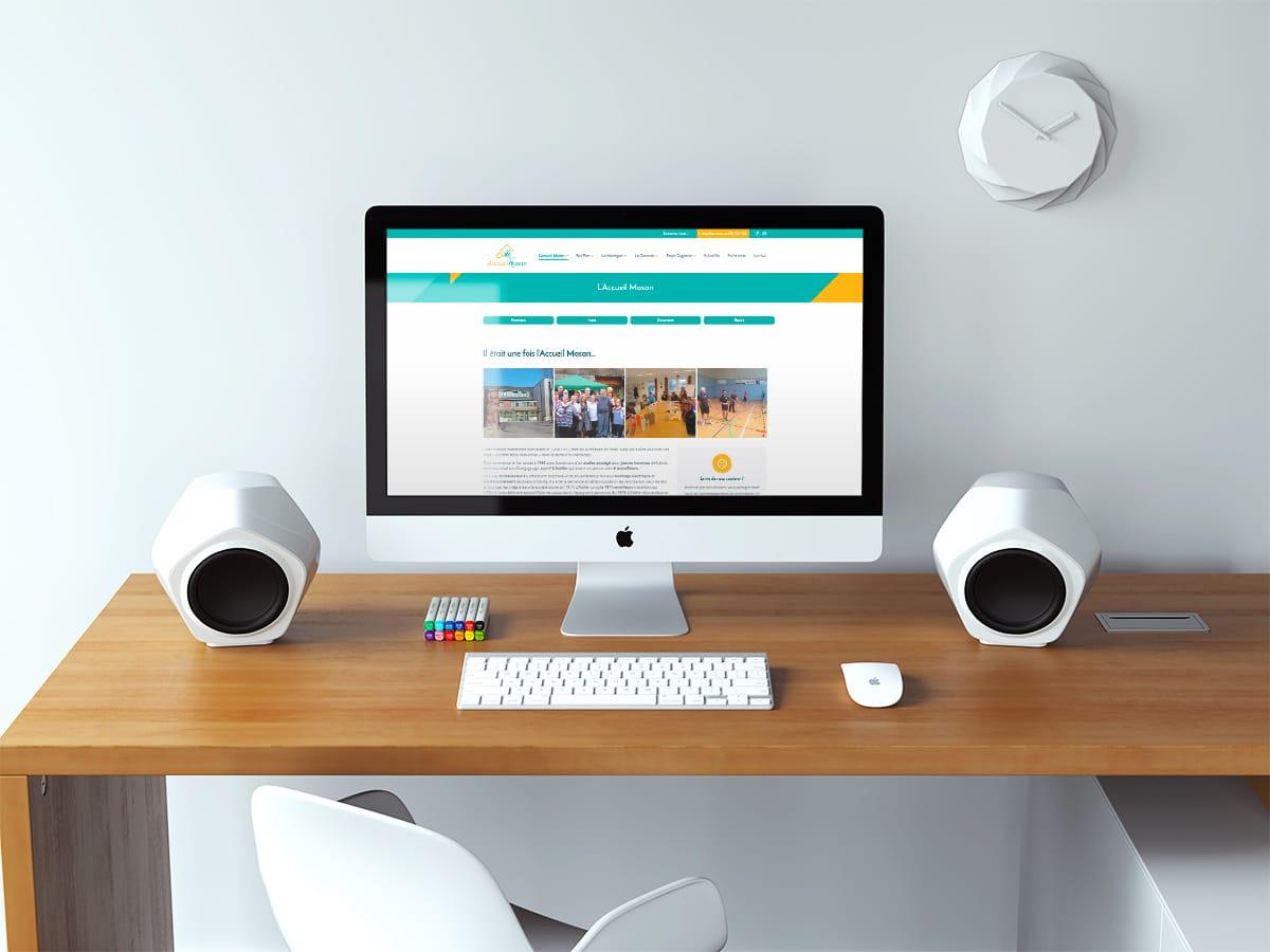 Création site internet vitrine de l'Accueil Mosan