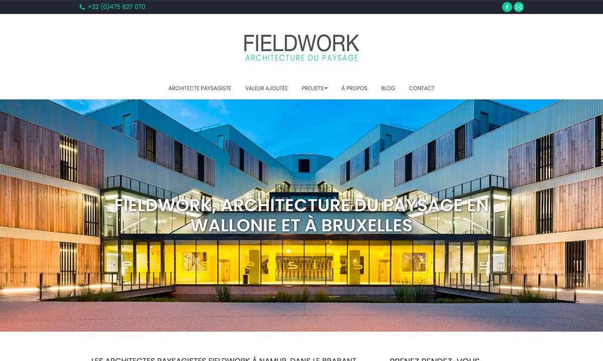 Site internet de Fieldwork créé par l'agence digitale Poush