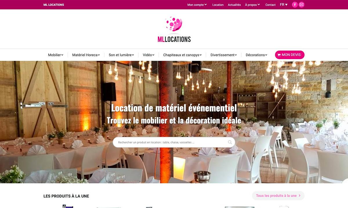 Site web de ML Location créé par l'agence digitale Poush