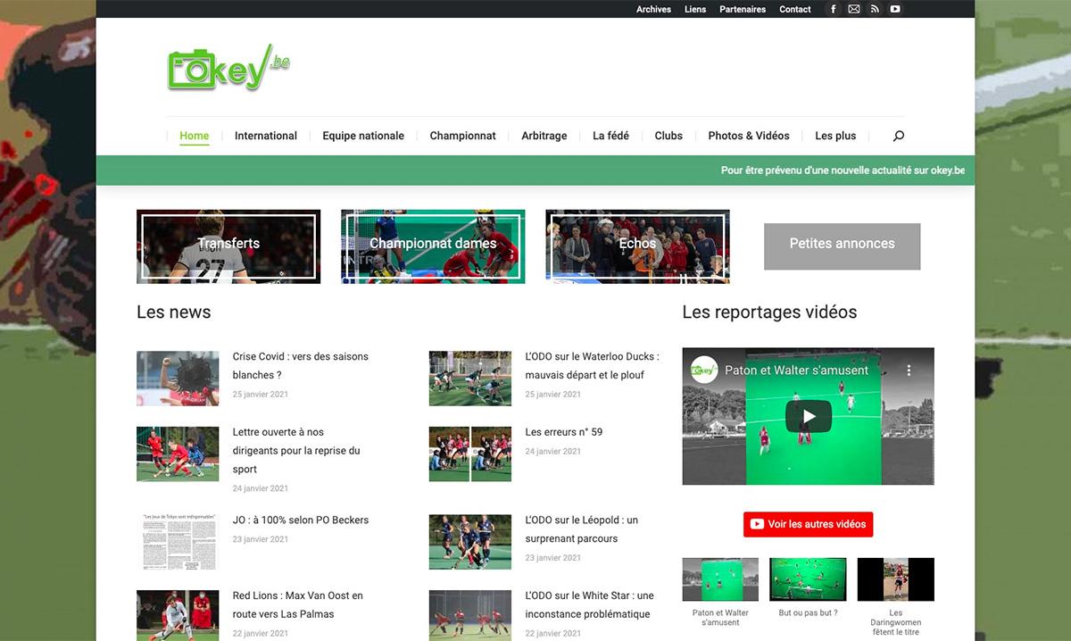 Site internet de Okay.be réalisé par l'agence web Poush