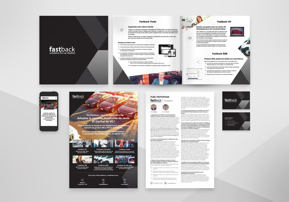 Supports papier Fastback, programme informatiques