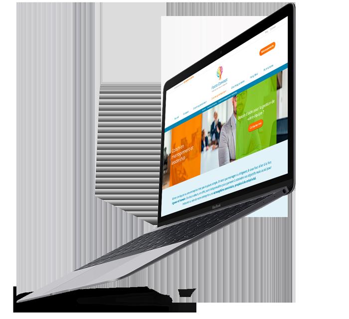 Site web de Facta Concept créé par l'agence de marketing digital Poush