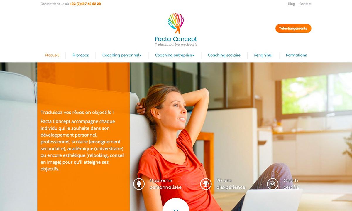 Site internet de Facta Concept réalisé par l'agence digitale Poush