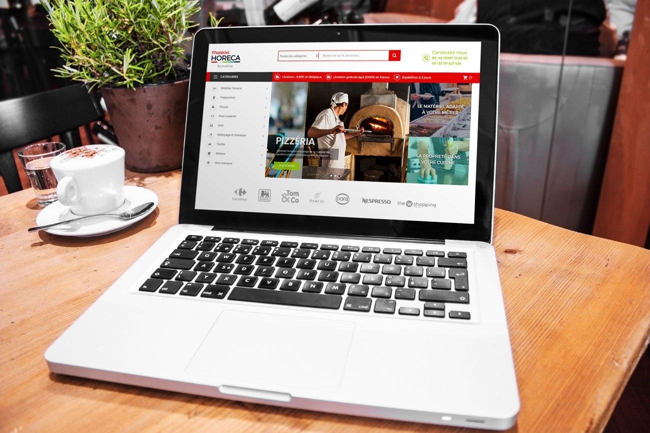 Notre agence web présente la nouvelle boutique en ligne materiel horeaca.com