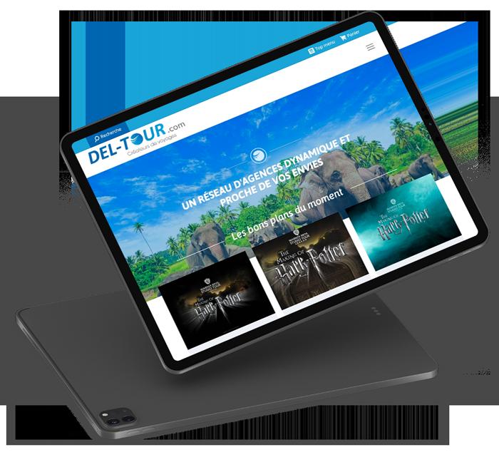 Site internet de Del-Tour designé par l'agence création de site Poush