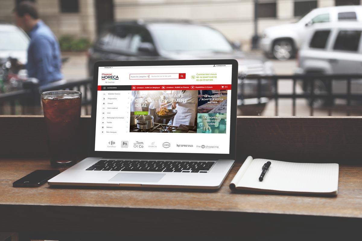 L'agence web Poush a réalisé le site internet e-commerce de Matériel Horeca