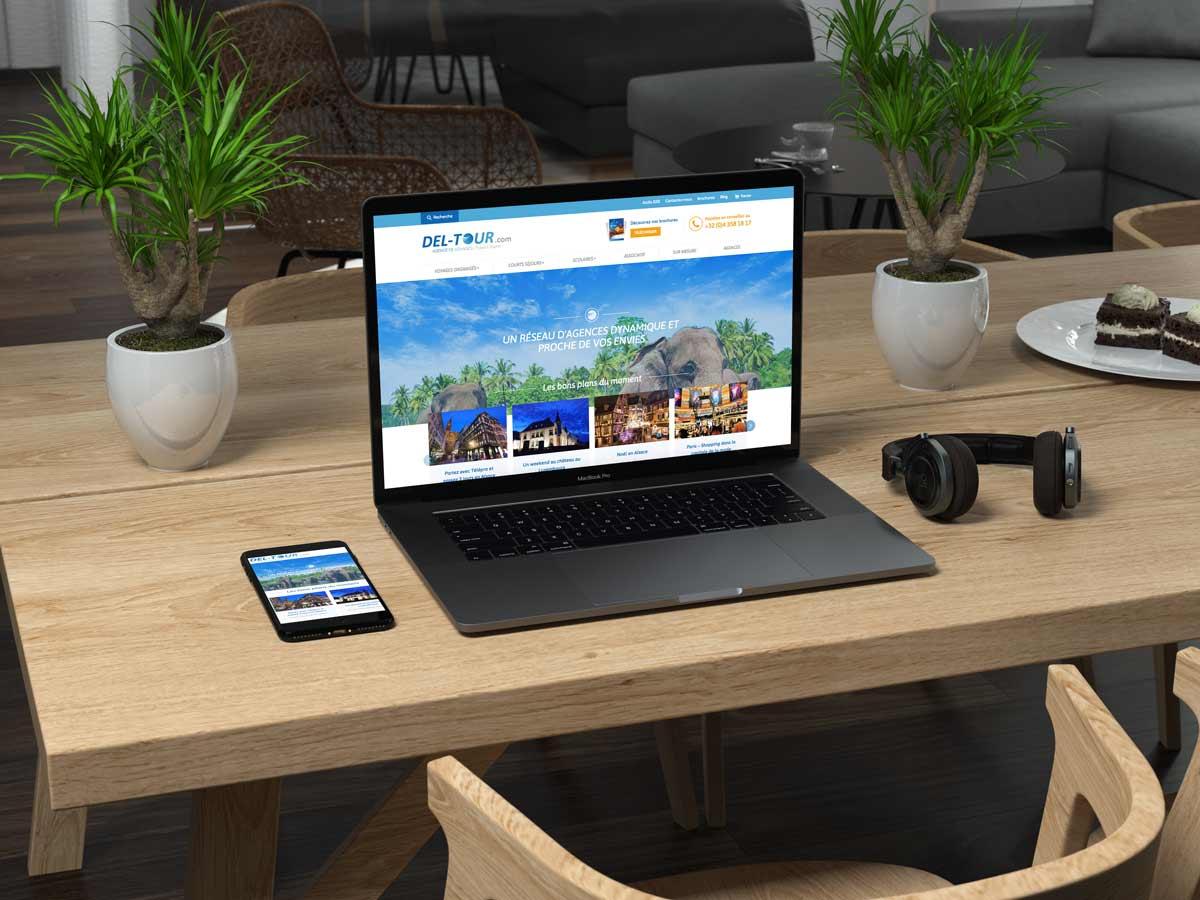 Refonte du site internet de Del Tour par notre agence web
