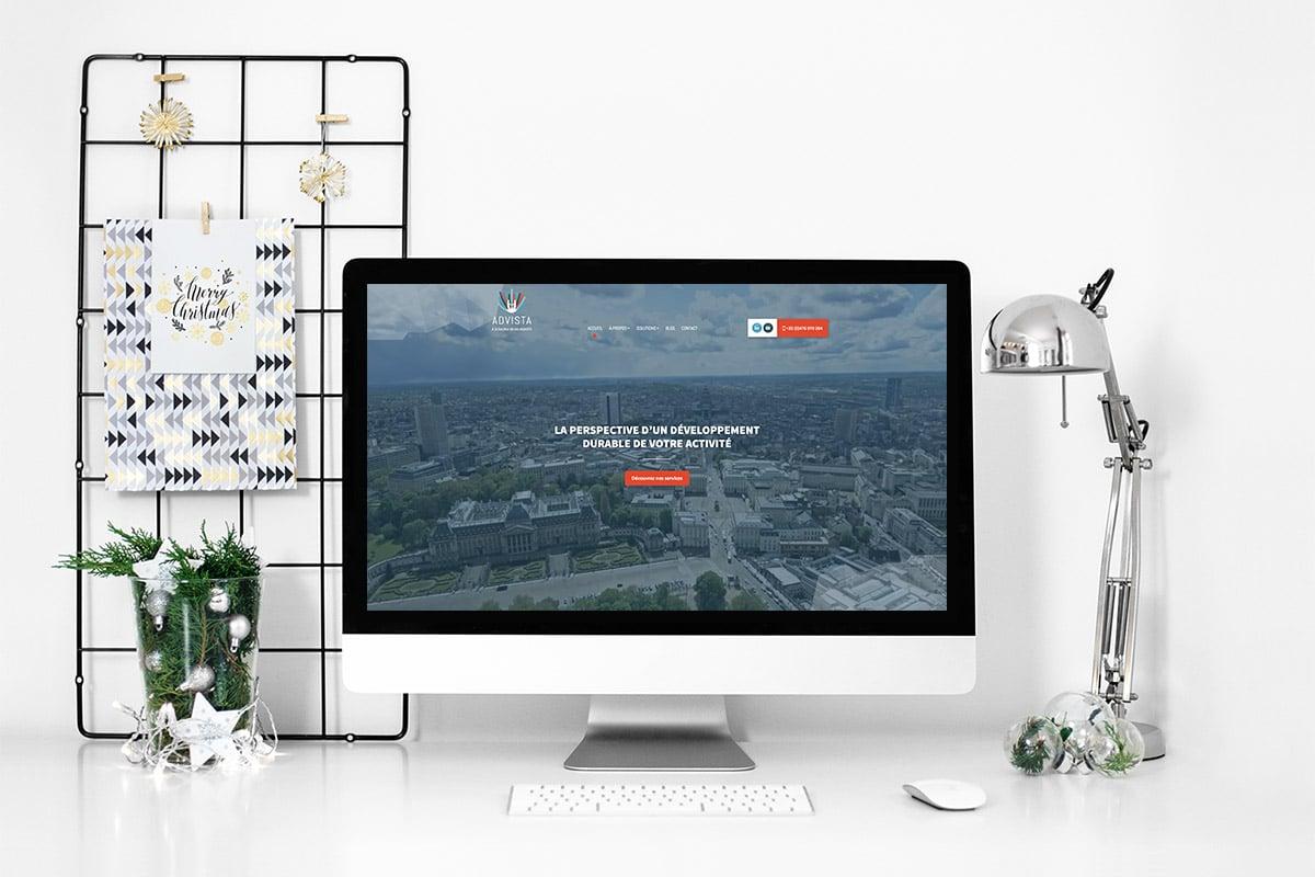L'agence Web a réalisé l'identité visuelle, l'image de marque et le site internet d'Advista