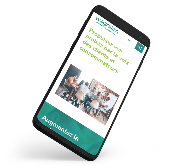 Site internet mobile de Wagralim réalisé par l'agence digitale Poush