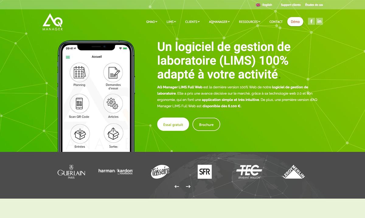 Site internet d'AQ Manager créé par l'agence création de site Poush