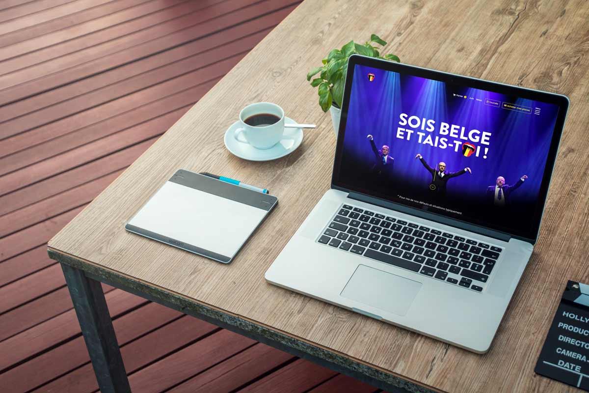 Projet refonte design du site internet de Sois Belge et tais-toi