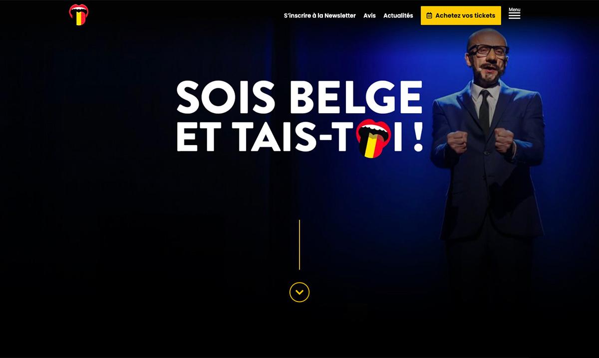 Site web de Sois Belge et tais-toi créé par l'agence digitale Poush