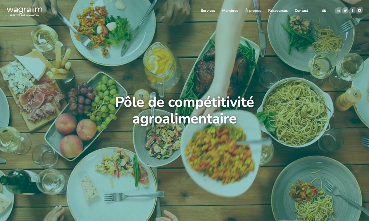 Site web de Wagralim créé par l'agence de marketing digital Poush