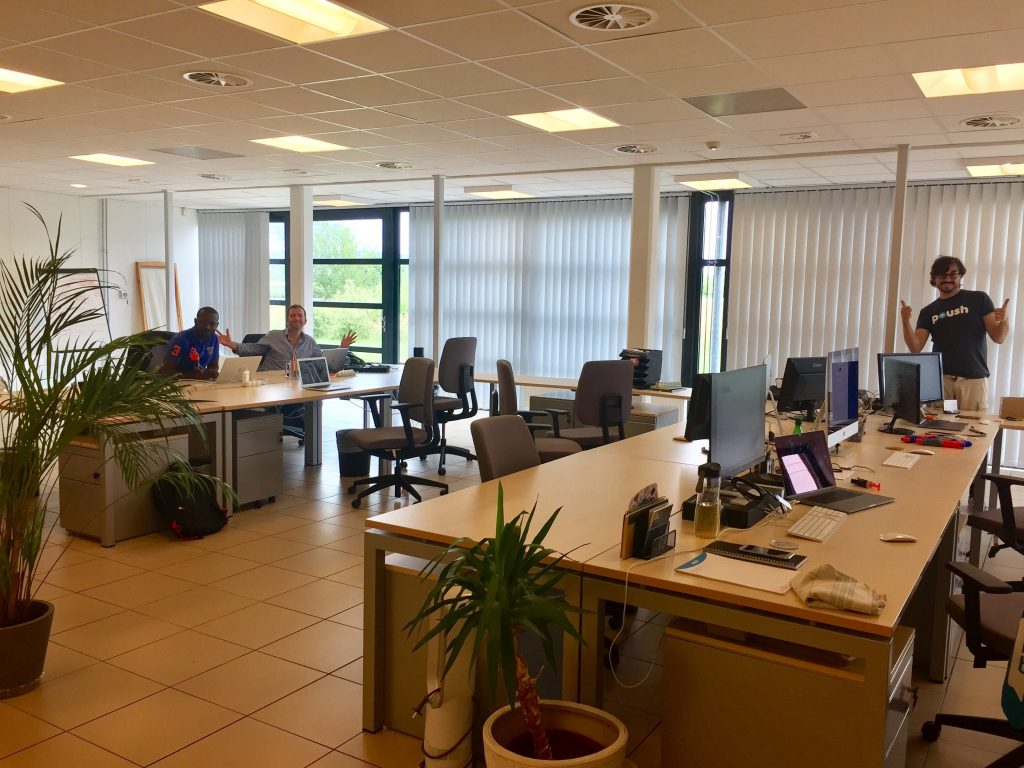 Nouveaux bureaux de l'agence de communication Poush