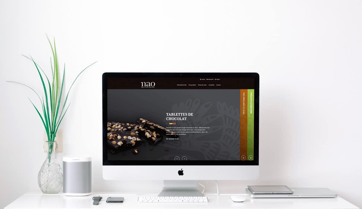 Agence web: création site internet vitrine de Nao