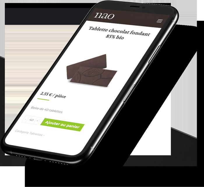 Site internet mobile de Nao créé par l'agence spécialisée en référencement naturel Poush