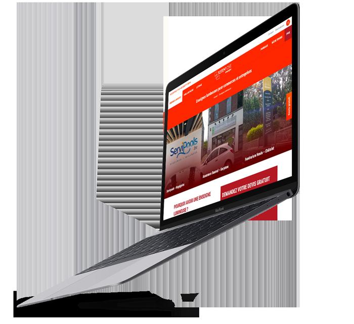 Site web de Totempose créé par l'agence digitale Poush