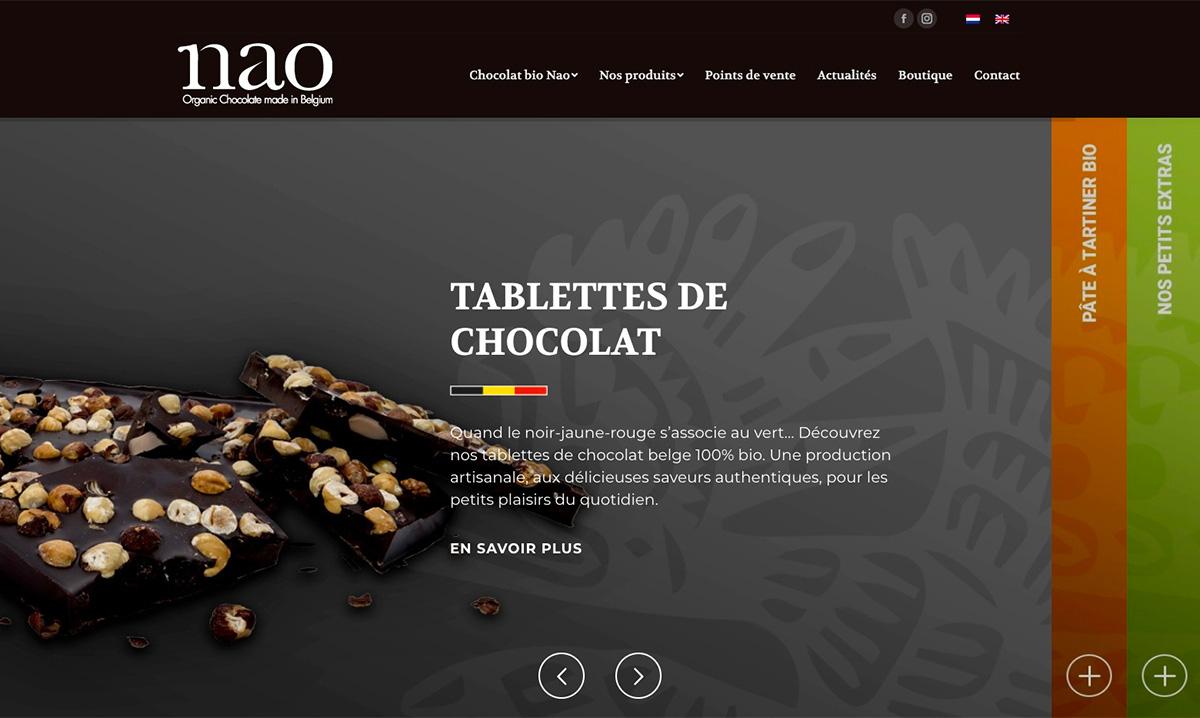 Site internet de Nao créé par l'agence web Poush