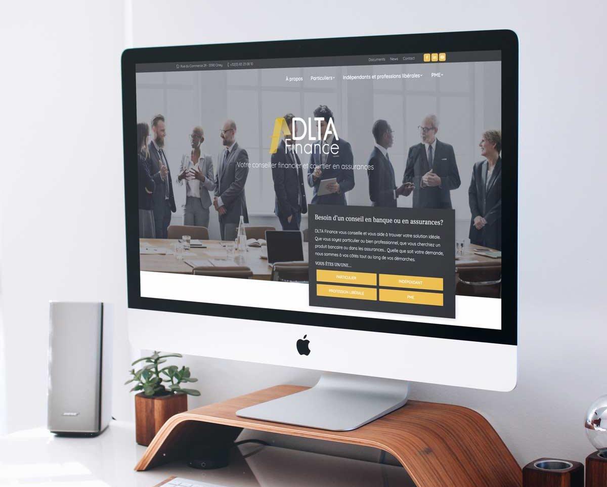 Agence web Namur: création site internet vitrine de DLTA Finance