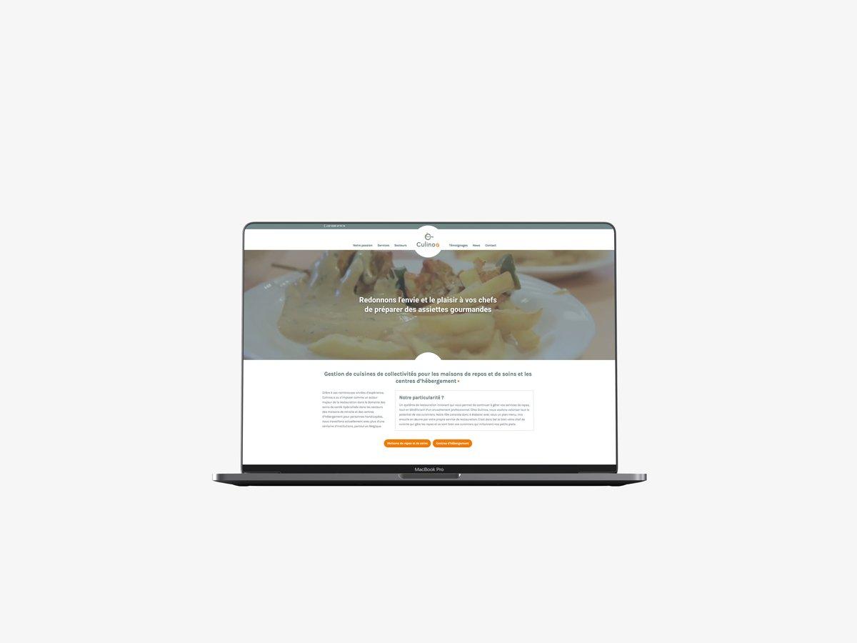 Site internet vitrine Culinoa | Après
