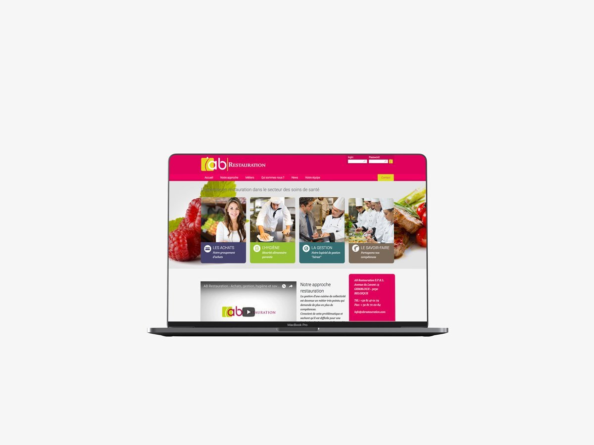 Site internet vitrine Culinoa | Avant