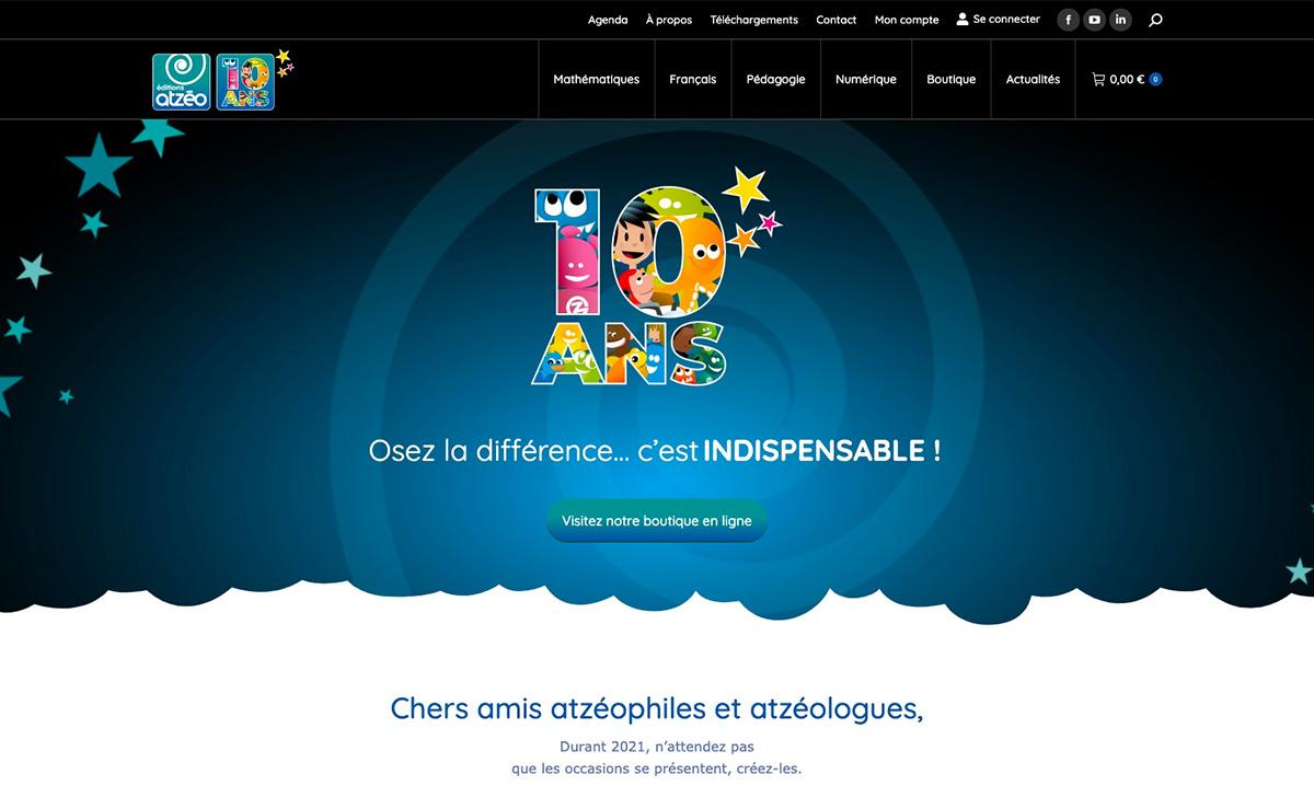 Site e-commerce créé par l'agence webmarketing Poush