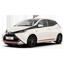 Toyota Aris blanche vendue par Gégo Toyota Team, client de l'agence SEO Poush