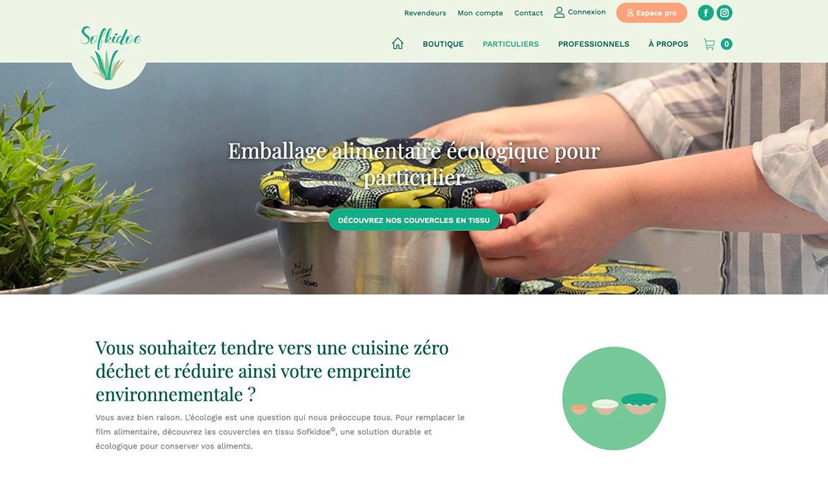 Site e-commerce de Sofkidoe créé par l'agence digitale Poush
