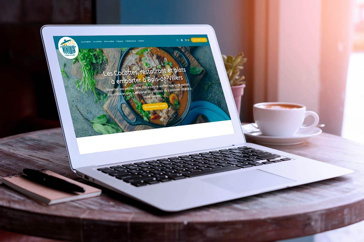 Petit e-shop one-page pour Les Cocottes à Bois-de-Villers