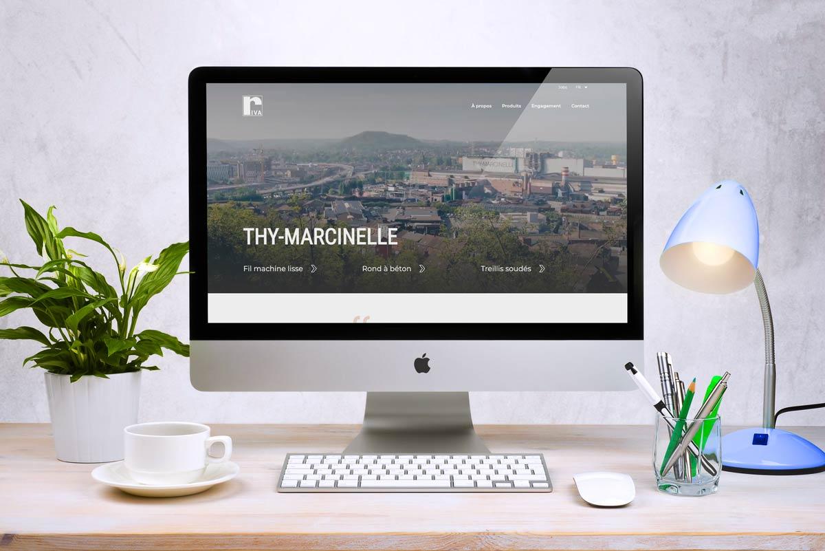 Site web de l'usine Thy-Marcinelle située à Charleroi en Belgique