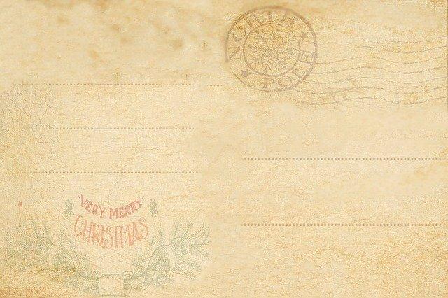 Vieille carte de Noël pour souhaiter ses bons voeux