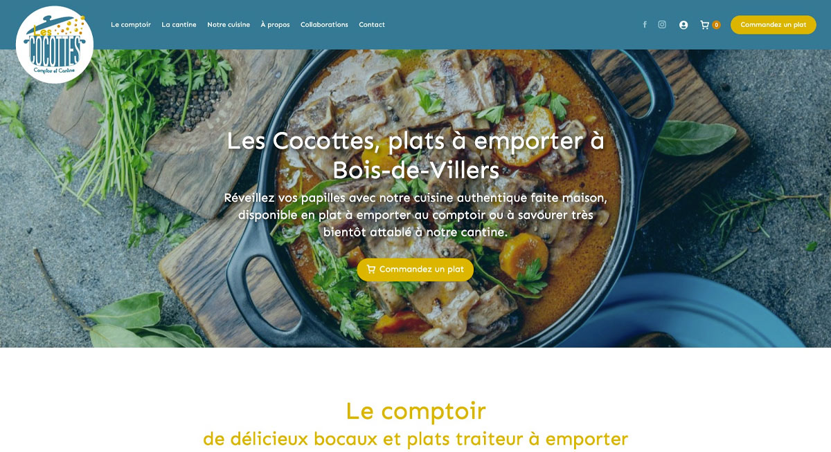 Le site internet des cocottes créé par l'agence web Poush