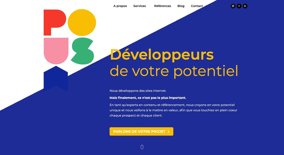 Le nouveau site internet de l'agence web marketing Poush