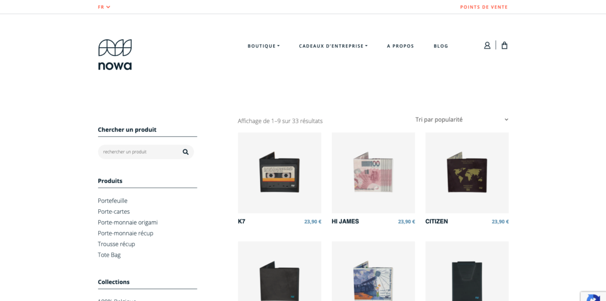 Boutique en ligne de nowa