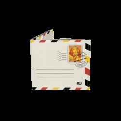 Portefeuille ultra fin en tyvek nowa blanc avec les couleurs de drapeau belge