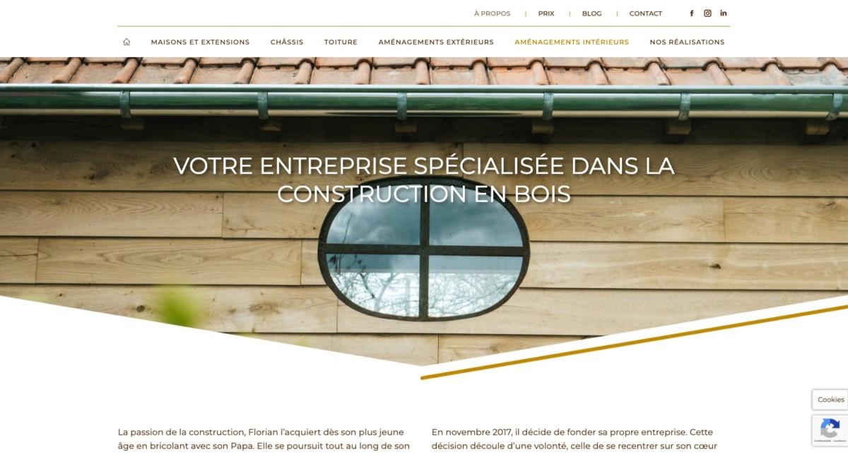 Page à propos du site web de Florian Huet