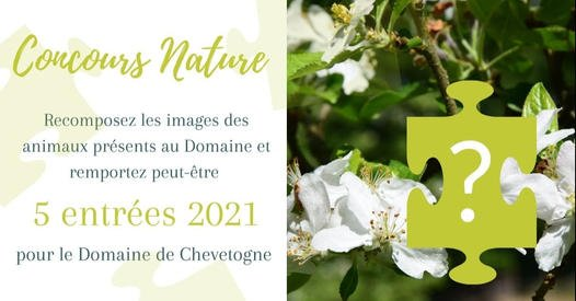 Concours puzzle nature du Domaine de Chevetogne sur Facebook